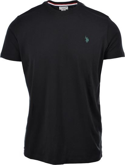 U.S. POLO ASSN. dbl horse logo shirt black