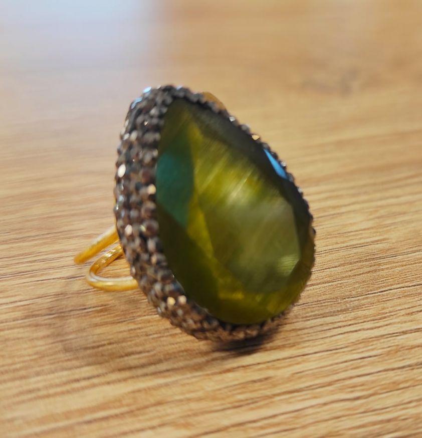 Δαχτυλίδι κρύσταλλο green