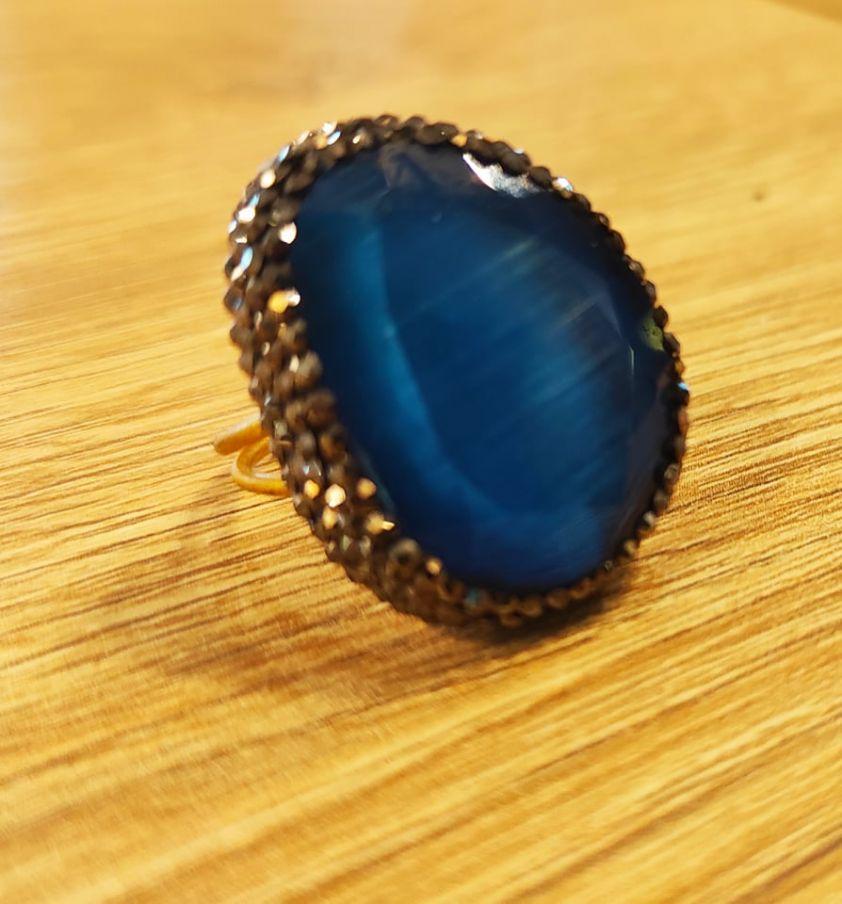 Δαχτυλίδι κρύσταλλο blue