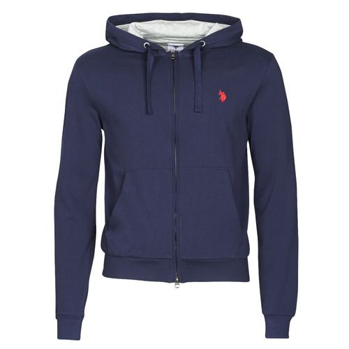 U.S. Polo Assn. tricolor hoody fleec blue