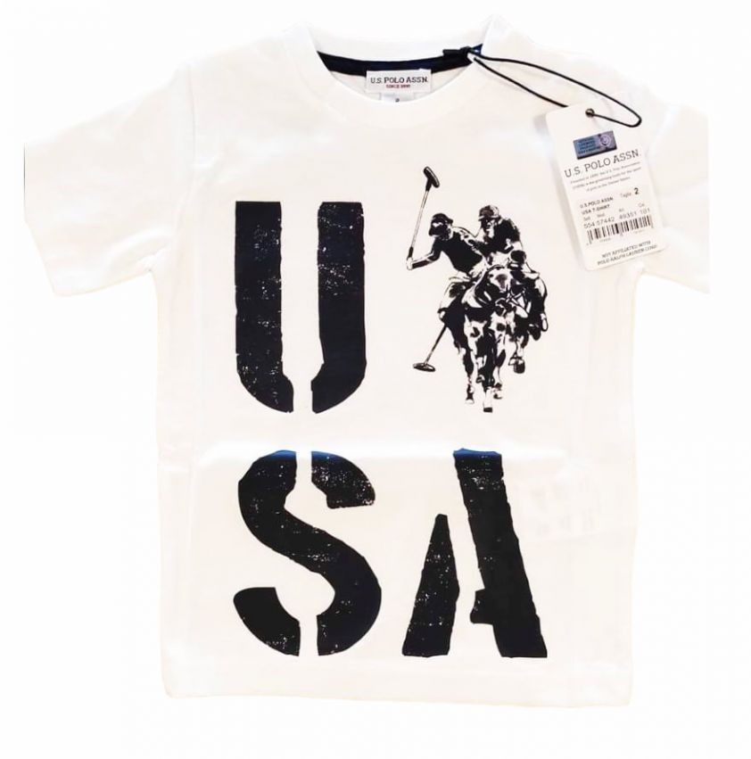U.S. POLO ASSN. usa t-shirt white
