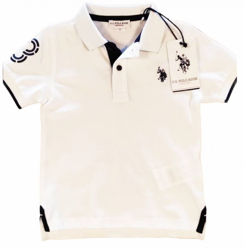 U.S. POLO ASSN. fluo polo white
