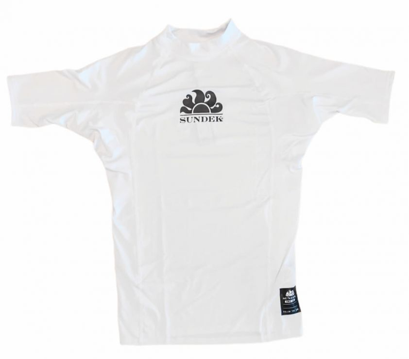 SUNDEK upf 50+ rash guard white