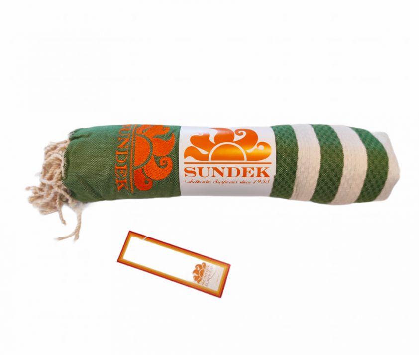 SUNDEK stokes towel green