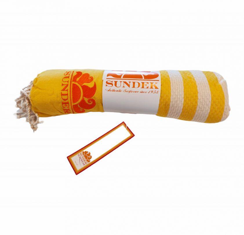 SUNDEK stokes towel yellow