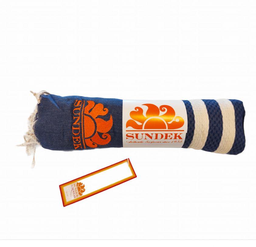 SUNDEK stokes towel blue