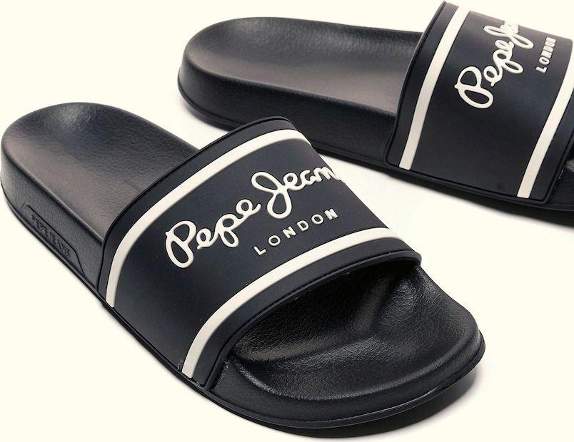 Pepe Jeans ανδρικά sliders classic μαύρο