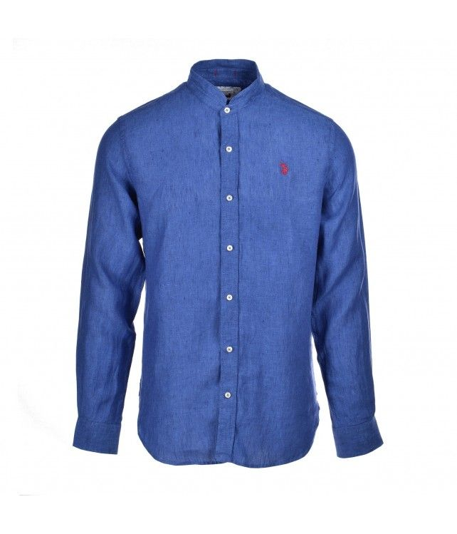 U.S. POLO ASSN. adam shirt mandarin blue