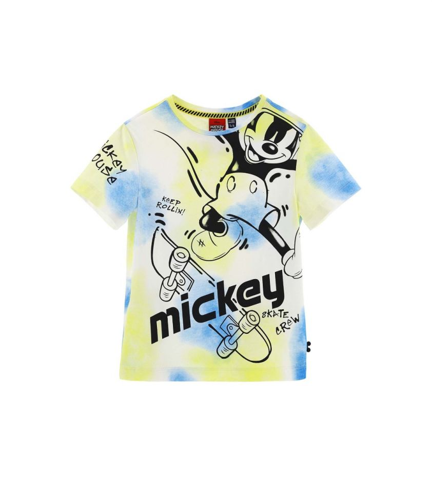 Original Marines Mickey mouse yellow blue t-shirt