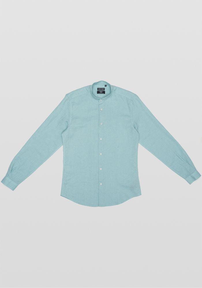 Antony Morato aqua marine linen shirt