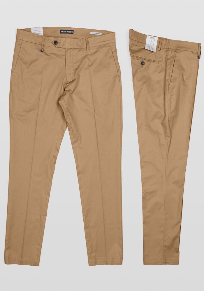 Antony Morato virtual dark beige trousers