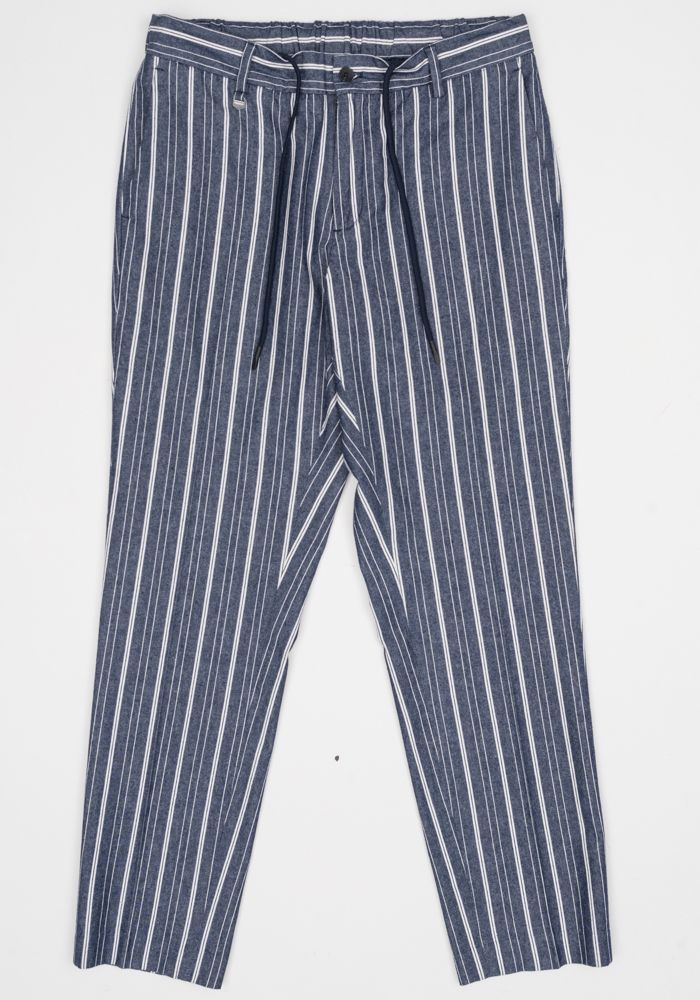 Antony Morato blue ink stripes trousers
