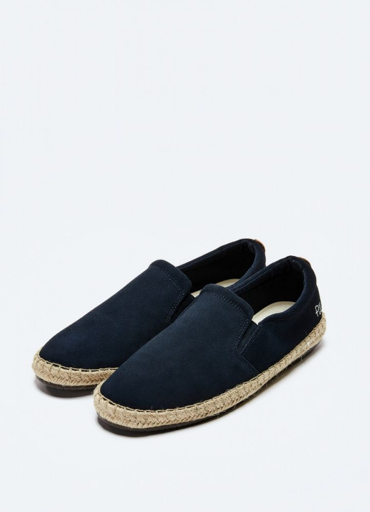 Pepe Jeans tourist c slip on suede espadrilles navy