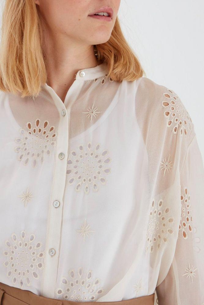BYOUNG πουκάμισο viben μπεζ