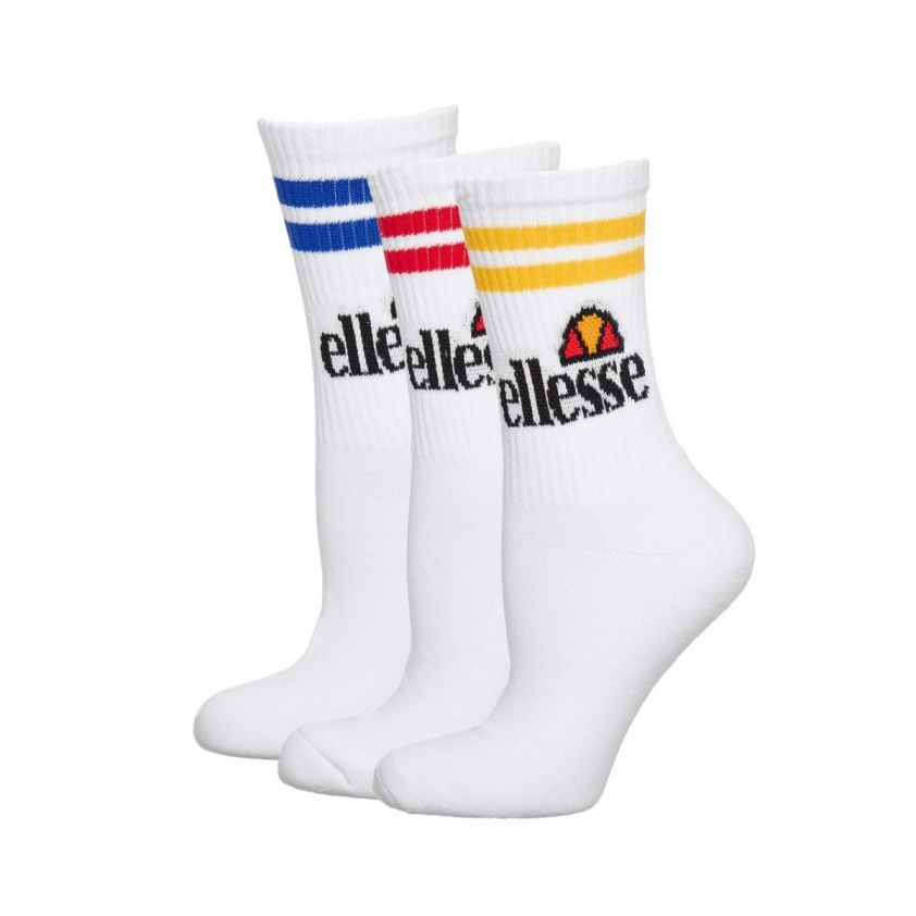 ELLESSE 3 pack socks white