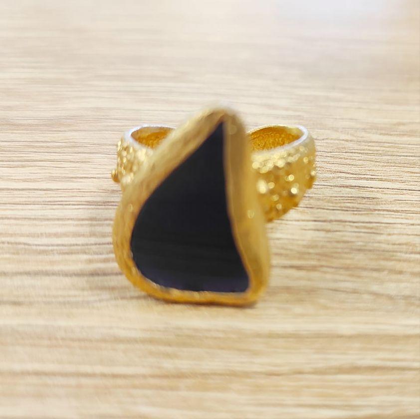Δαχτυλίδι με ημιπολύτιμη πέτρα dark blue