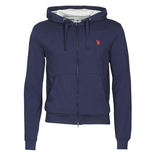 U.S. Polo Assn. tricolor hoody fleec blue