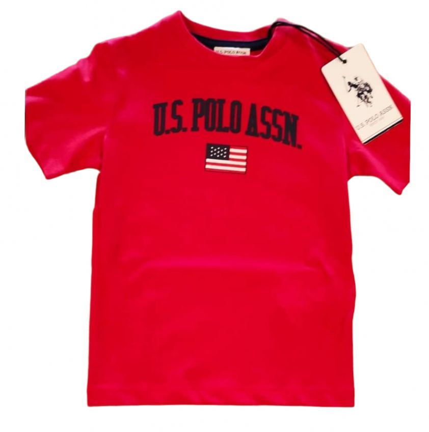 U.S. POLO ASSN. uspa t-shirt red