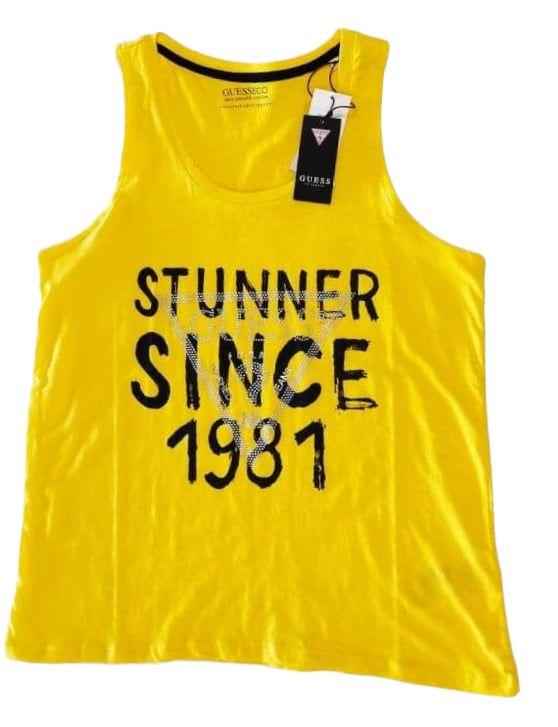 GUESS μπλούζα κίτρινη