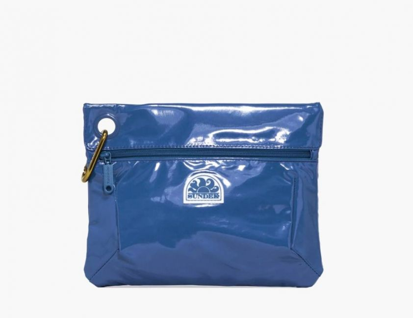 SUNDEK clutch with snap hook blue
