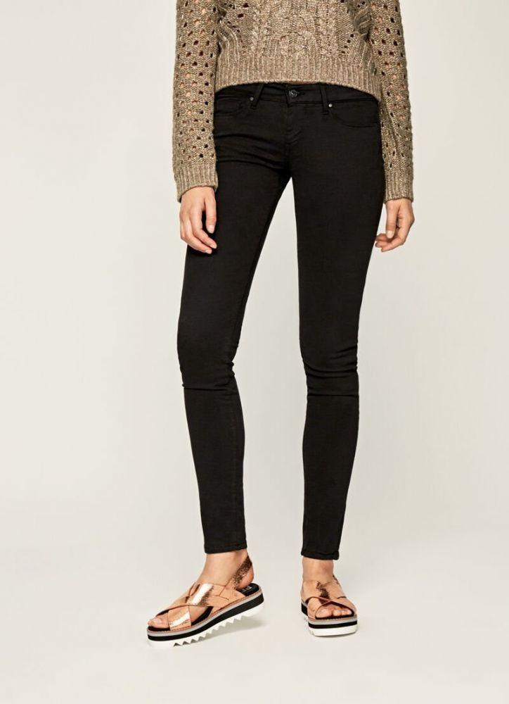 Pepe jeans παντελόνι soho skinny μαύρο