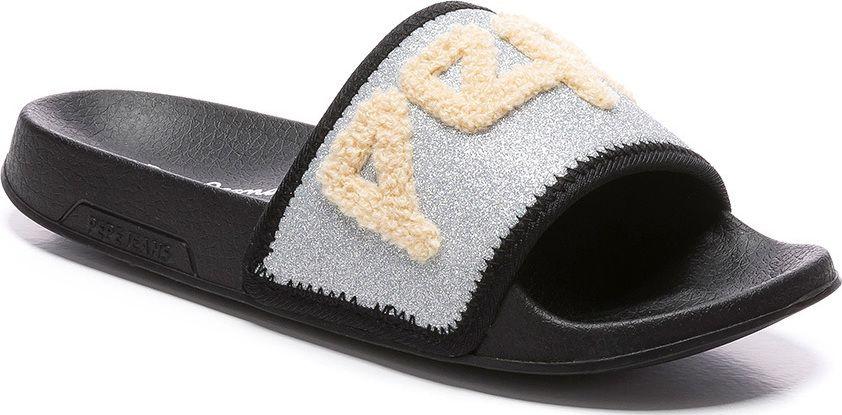Pepe Jeans silver sliders
