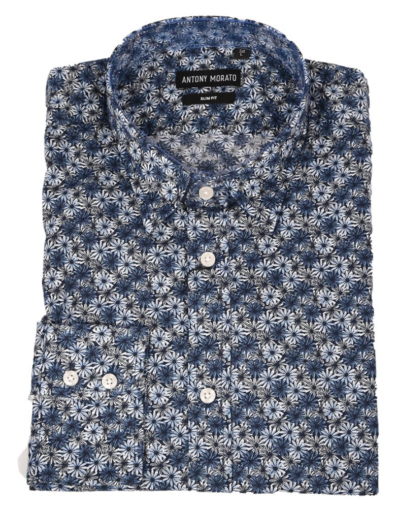 "ANTONY MORATO  πουκάμισο ""slower"" μπλε"