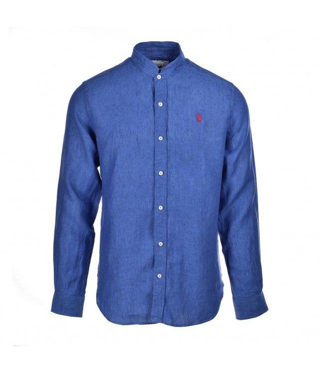 U.S. POLO ASSN. adam shirt mandarin blue