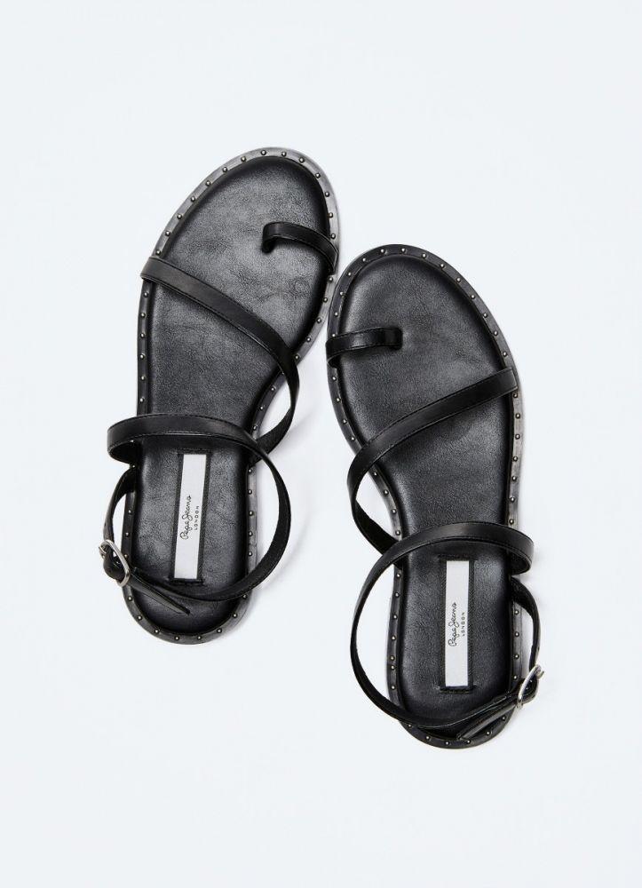 Pepe Jeans hyes bass γυναικεία σανδάλια μαύρο